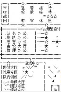 YYCF战队频道设计 游戏专区大厅设计图