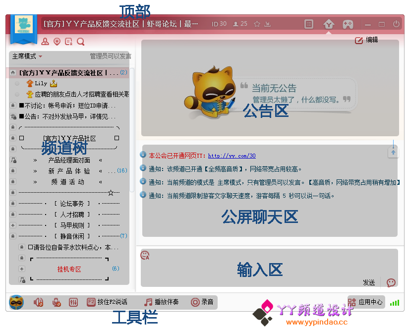 YY频道概览