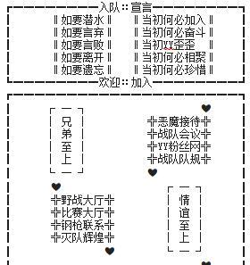 CF战队入队宣言频道设计图